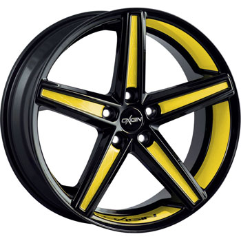 Oxigin 18 Concave Yellow Folienveredelung