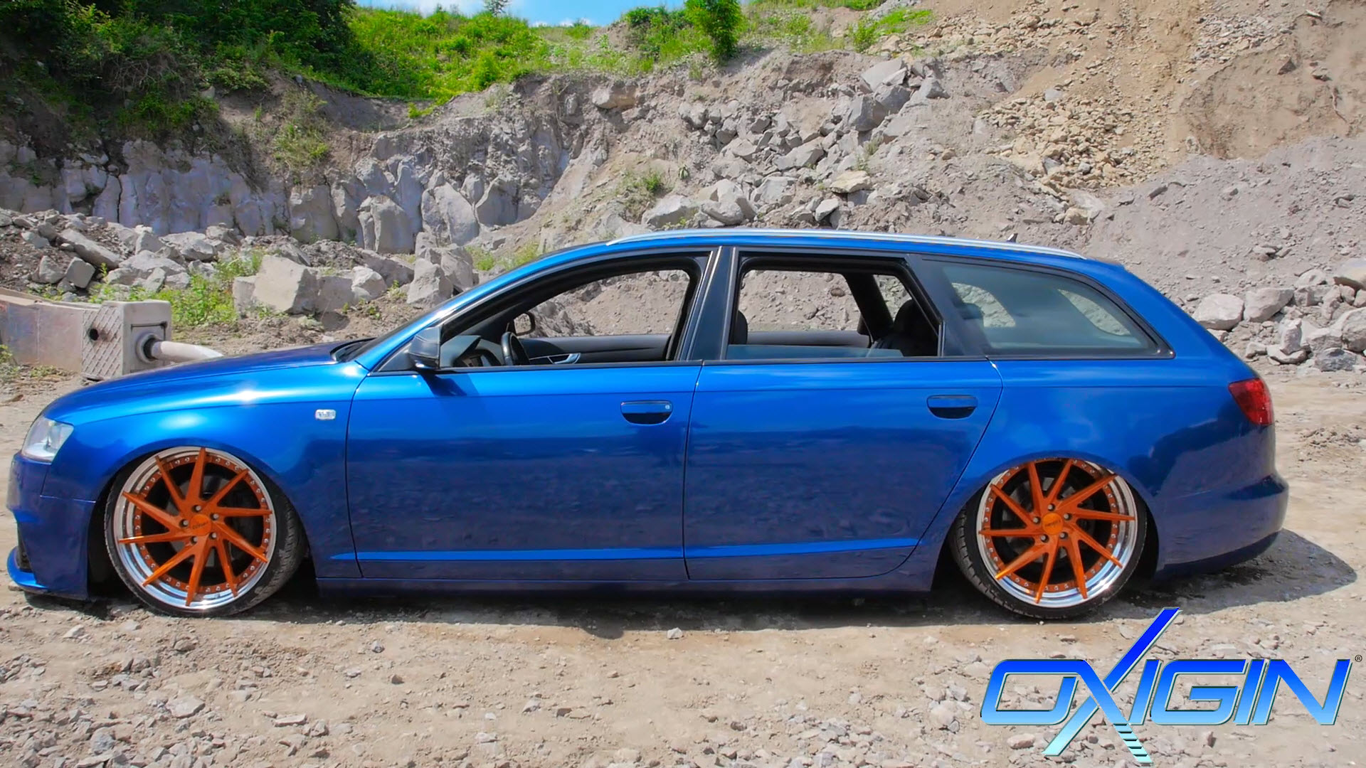 Audi A6 mit MP1 Orange Lackiert