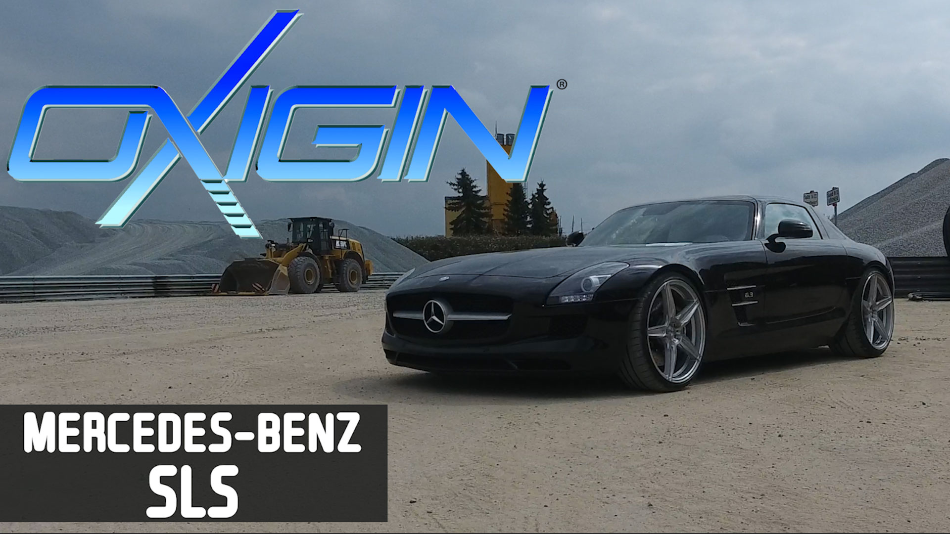 Mercedes SLS Amg mit OX21 Silver Brush